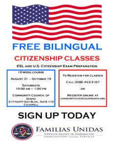 Citizenship Classes Flyer August 2019(Eng)