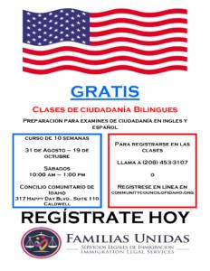 Citizenship Classes Flyer August 2019(Spa)